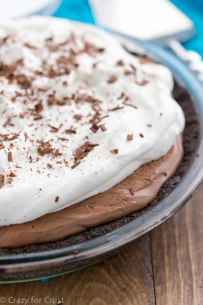 No-Bake Peanut Butter Chocolate Cream Pie