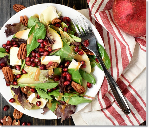Pomegranate, Pear, Pecan, & Brie Salad