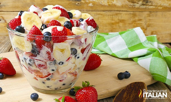 Red, White and Blue Cheesecake Salad