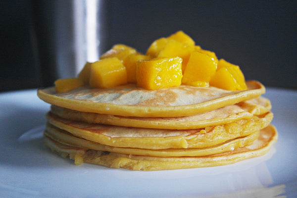 mango cream cheese pancakes