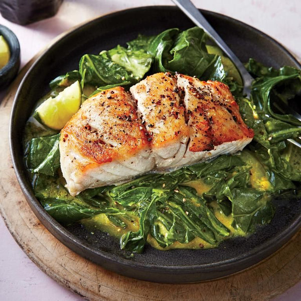 Sautéed Snapper with Curry Greens by Yahoo News