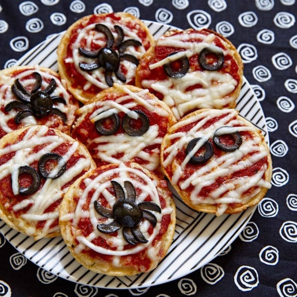 Spiderweb Pizza by Nerdy Mama