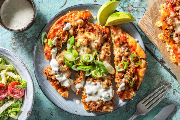 turkey taco pizza by Hello Fresh