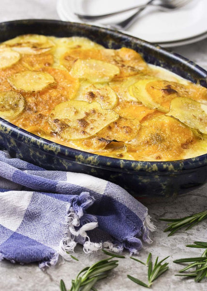 Butternut Squash Potato Gratin with Brie and Thyme