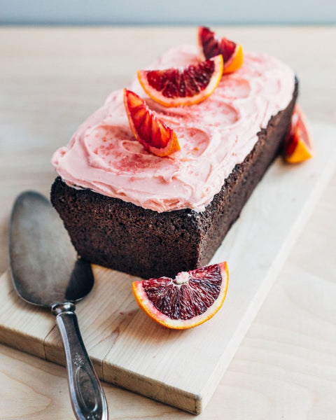 Chocolate Beet Cake With Tangy Blood Orange Frosting