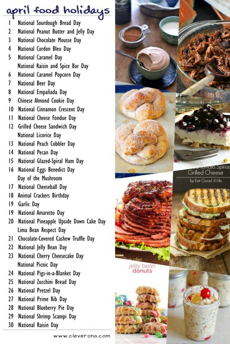 April Food Holidays