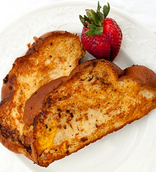 Coconut French Toast with Butter Pecan Syrup