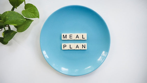 meal plan on a plate