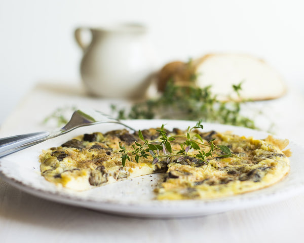 frittata on a plate