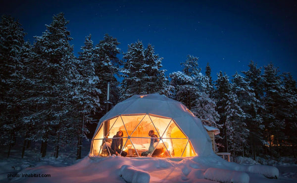 winter glamping