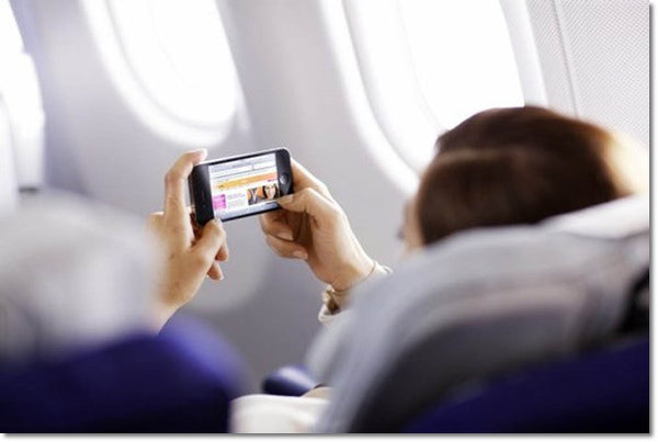Get an Internet service especially for long flights