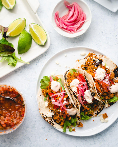 loaded quinoa taco by A Couple Cooks