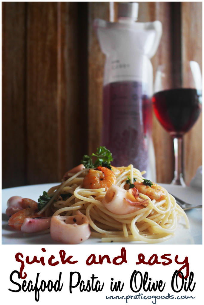 Quick and Easy Seafood Pasta in Olive Oil