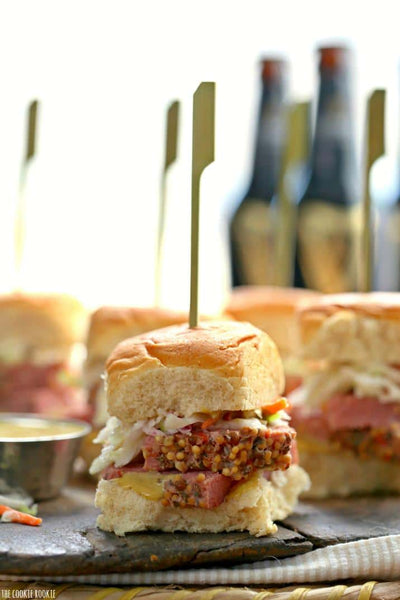 Slow Cooker Corned Beef and Cabbage Sliders
