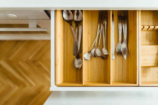 utensils in the drawer