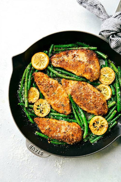 One-Skillet Lemon Parmesan Chicken