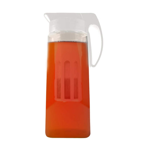 large pitcher with iced tea infuser