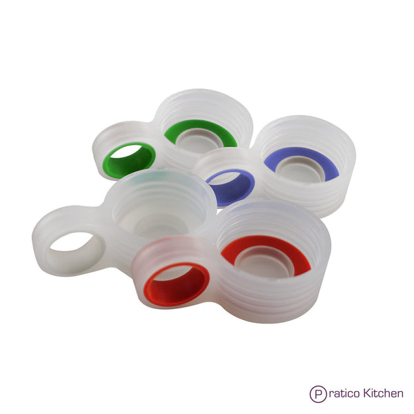 4-pack glass bottle replacement loop caps