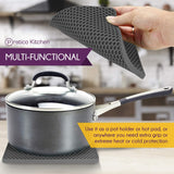 Pratipad PLUS 4-in-1 Multipurpose Silicone Pot Holders - Dark Grey