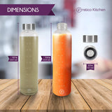 20 oz Glass Bottles - Water, Juice, Drinking Bottles - 4 Pack