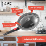 Nonstick Saucepan with Detachable Handle and Glass Lid - 3 Qt