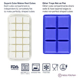 silicone ice tray with lid features