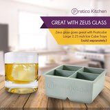 Large Ice Cube Mold with Lid - Makes 2.25 Inch Ice Cubes, 2 Pack