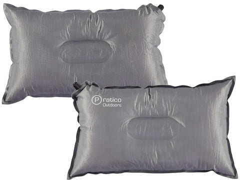 self inflating travel and camping pillow