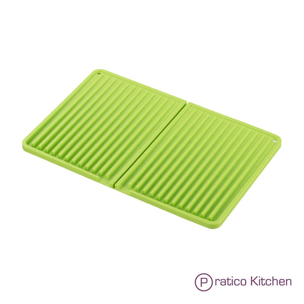 green silicone folding mat