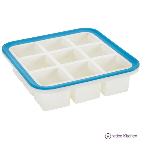 silicone ice cube tray with EZ-release rim