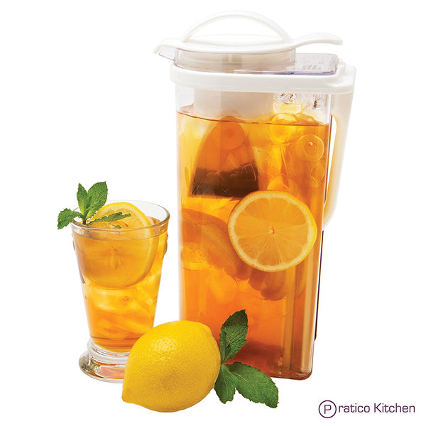 iced tea pitcher with removable strainer