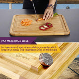 Bamboo Cutting Board with Juice Groove - Extra Large