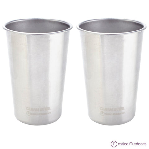 2-pack stainless steel cups 16oz