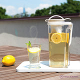 lovely clear low profile iced tea pitcher
