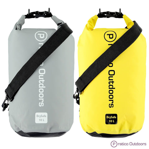 gray and yellow dry bag 10L