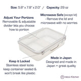 meal container features
