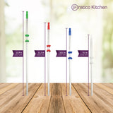 8 Stainless Steel Straws Straight Set - 5 Pack (40 Straws)