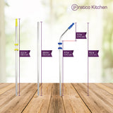 6 Stainless Steel Straws Straight & Curved Set - 5 Pack (30 Straws)