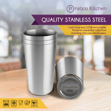 smooth edge cups 4 pack quality stainless steel