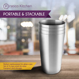 smooth edge cups 4 pack portable and stackable