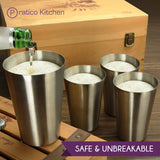 smooth edge cups 4 pack safe and unbreakable