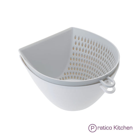 multipurpose colander, mixing bowl, & measuring cup
