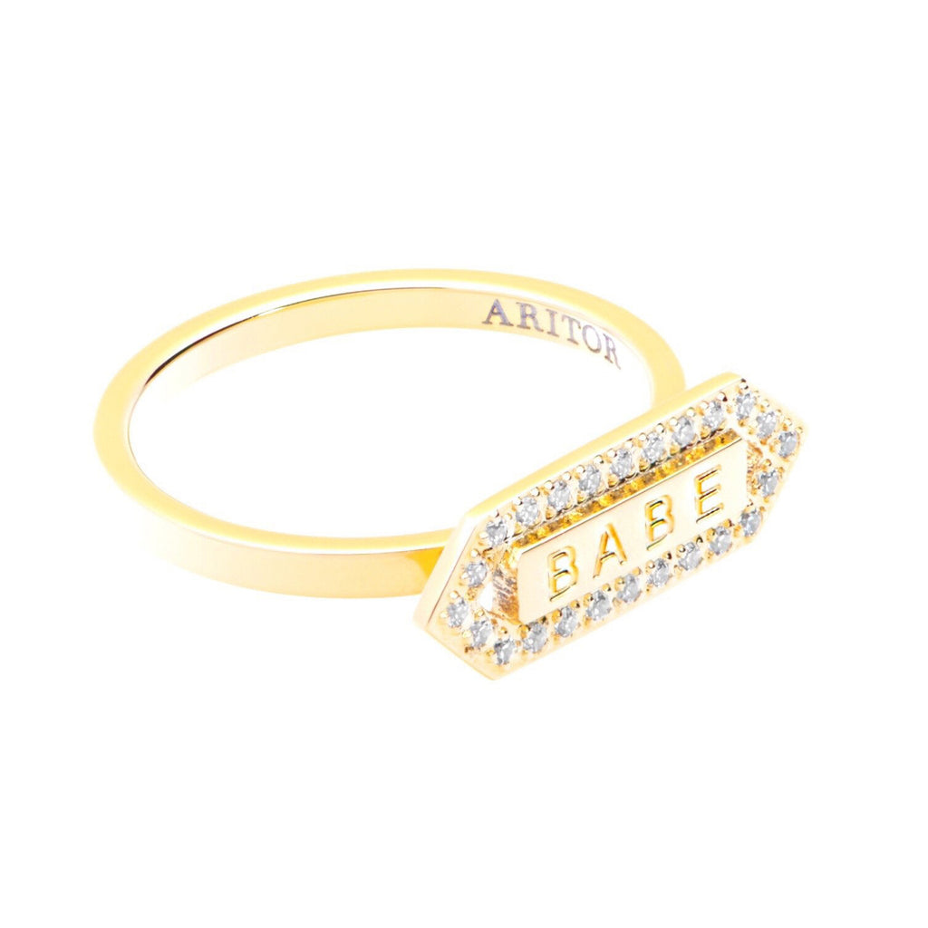 plated gold ring layered engagement name rings rsnamenecklace