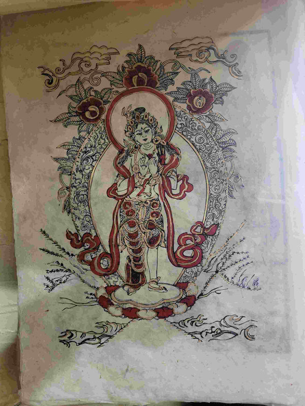 Hand Made Rice Paper Painting