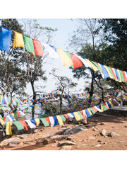 Polyester Windhorse Tibetan Prayer Flags