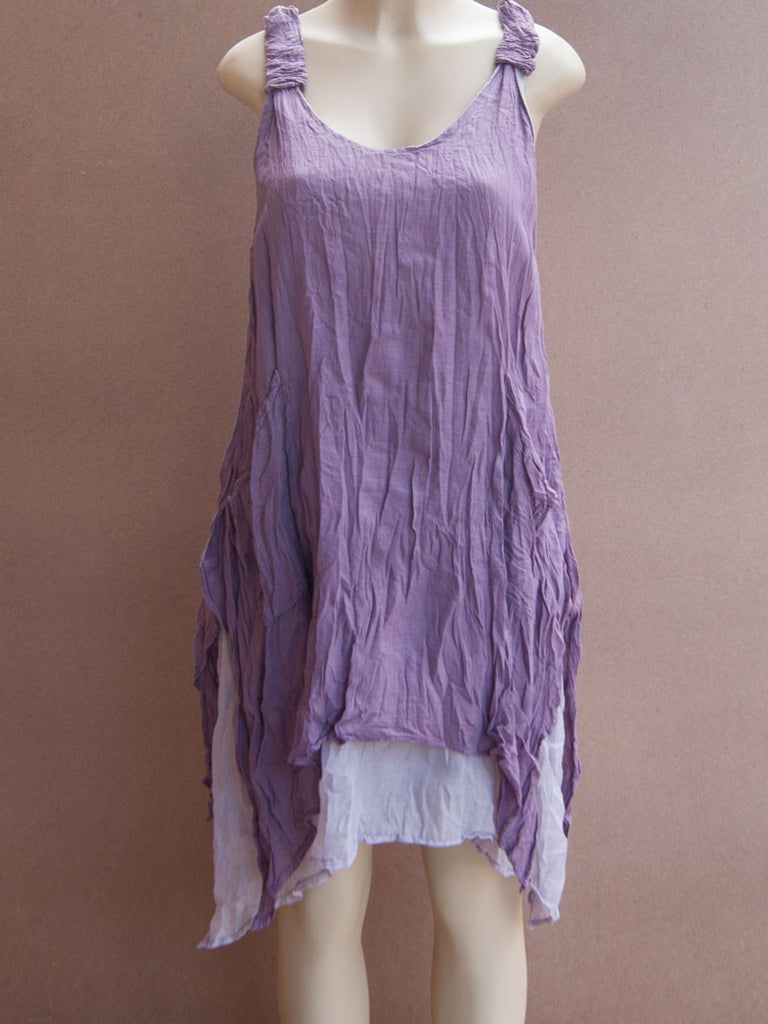 Scrunchy Strap Cotton Dress