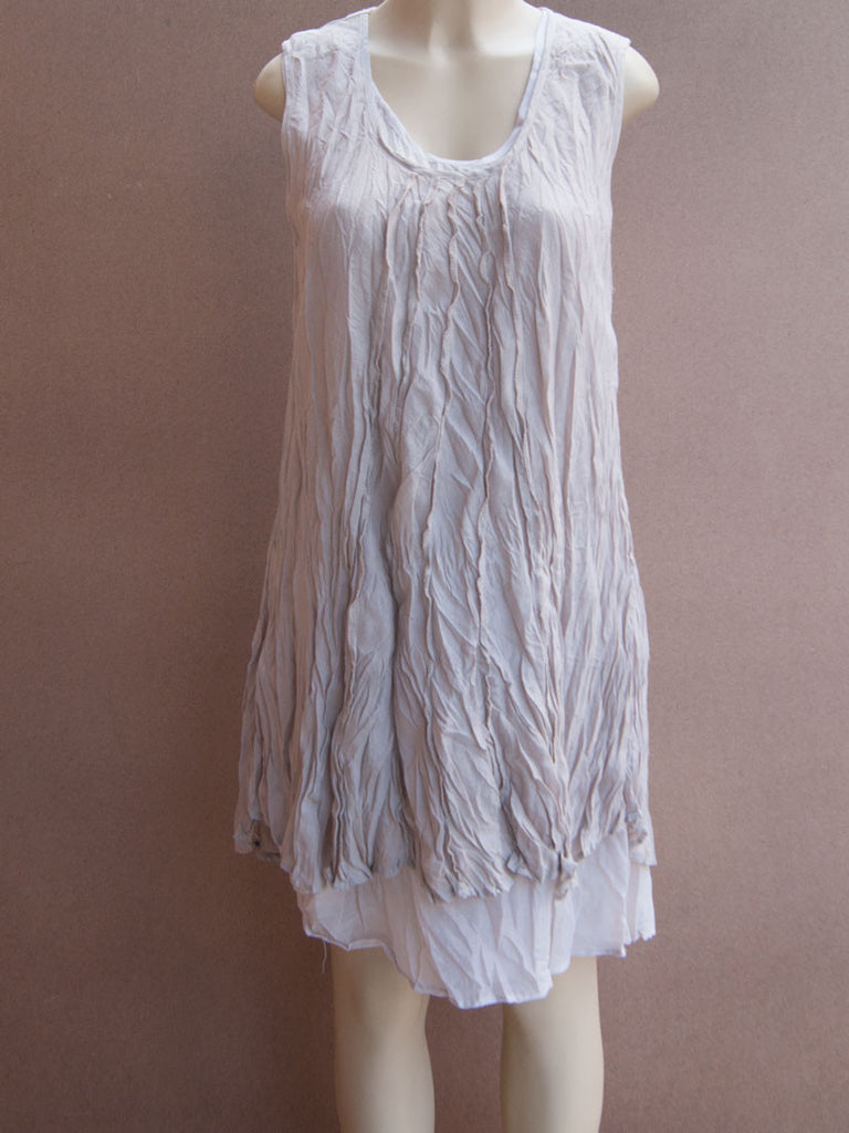 Layered 5 lines Cotton Dress