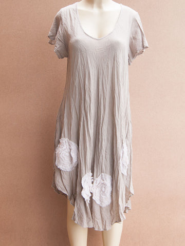 Wide Rose Cotton Dress