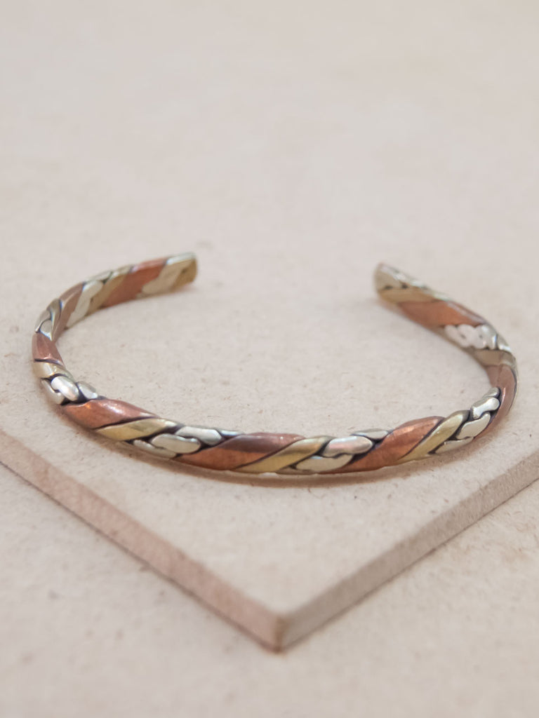 Three Metal Copper Healing Bracelet