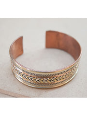 Brass Copper Arrow Bracelet